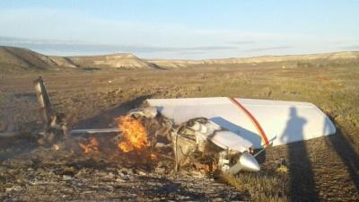 Chubut: dos personas murieron al estrellarse una avioneta