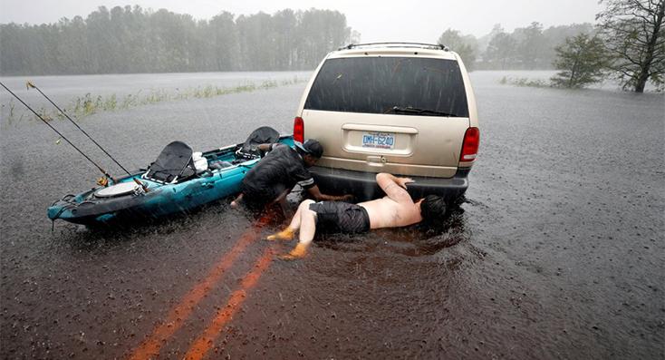 Las catastróficas consecuencias del huracán Florence en imágenes