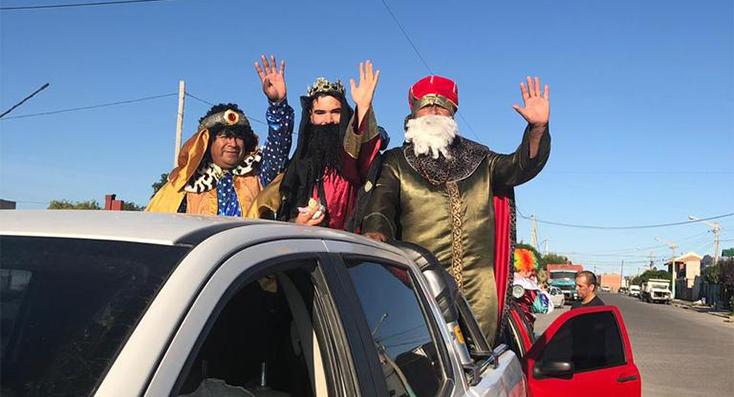 Los Reyes Magos visitaron las ciudades chubutenses