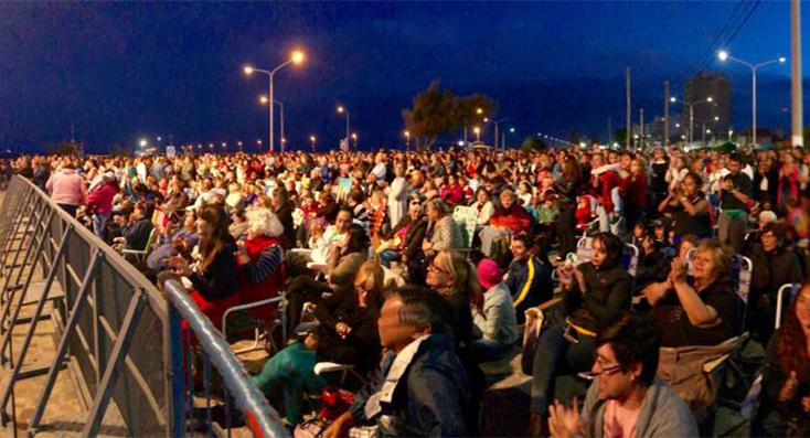 Los madrinenses siguen disfrutando de los recitales al aire libre